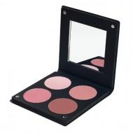 Палетка румян с зеркалом, 4 оттенка Make-Up Atelier Paris BL3DR роза 96г: фото