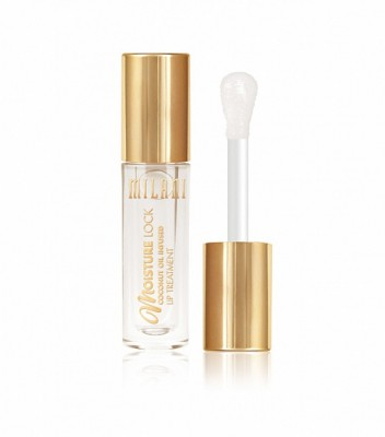 Увлажняющее масло-блеск Milani Cosmetics MOISTURE LOCK OIL INFUSED LIP TREATMENT 01 MOISTURIZING ALMOND COCO: фото