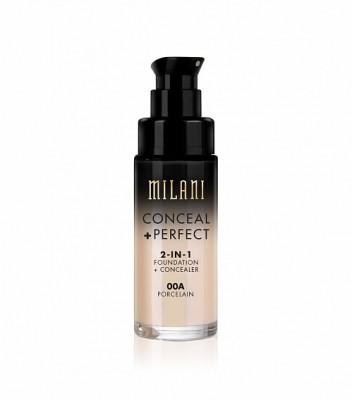 ТОНАЛЬНАЯ ОСНОВА + КОНСИЛЕР Milani Cosmetics CONCEAL + PERFECT 2-IN-1 FOUNDATION + CONCEALER 00A PORCELAIN: фото