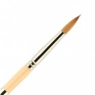 Кисть для ногтей акрил ВАЛЕРИ-Д из волоса колонка №6 круглая в футляре: фото