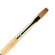 Кисть для ногтей акрил ВАЛЕРИ-Д из волоса колонка №6 ровная в футляре: фото