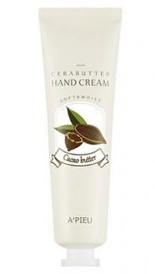 Крем-баттер для рук с маслом какао A'PIEU Cerabutter hand cream cacao butter 35 мл: фото