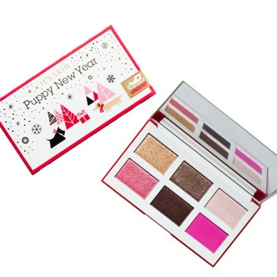 Палетка теней для глаз It's Skin Life Color Palette Puppy New Year розовая 10,2г: фото