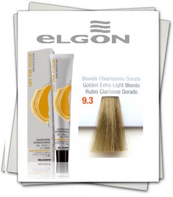 Крем-краска ELGON GET THE COLOR 9.3 очень светлый блонд золотистый – BIONDO CHIARISSIMO DORATO, 100 мл: фото
