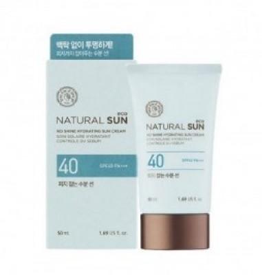 Солнцезащитный увлажняющий крем THE FACE SHOP Natural sun eco no shine hydration sun SPF40 50 мл: фото