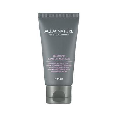 Маска-пленка A'PIEU Aqua Nature Blackhead Clean-Off Nose Pack: фото