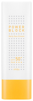 Солнцезащитный крем A'PIEU Power Block Daily Sun Cream SPF50+/PA++++ 50мл: фото