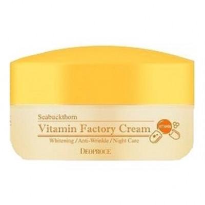 Крем ночной омолаживающий DEOPROCE Seabuckthorn Vitamin Factory Cream 100гр: фото