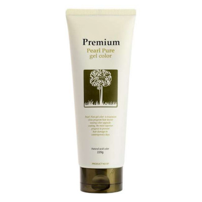 Гель-маникюр для волос Gain Cosmetic Haken Premium Pearll Pure Gel Color Charcoal Black 220гр: фото