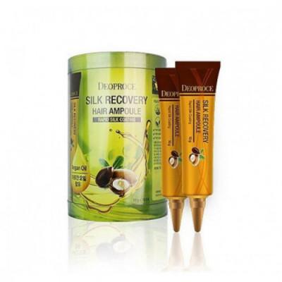Маска для волос восстанавливающая DEOPROCE SILK RECOVERY HAIR AMPOULE 10гр*10: фото