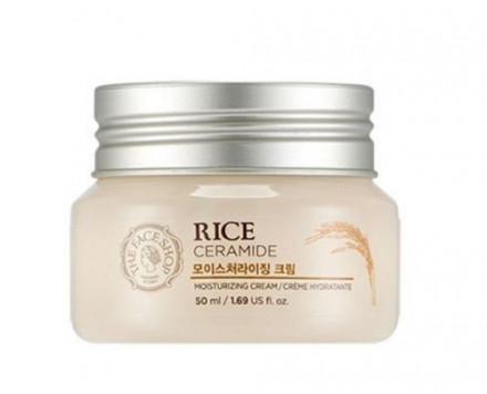 Крем увлажняющий с рисом и керамидами The Face Shop Rice&ceramide Moisturizing Cream, 50 мл: фото