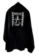 Накидка черная с лого Make-up Atelier CAPN: фото