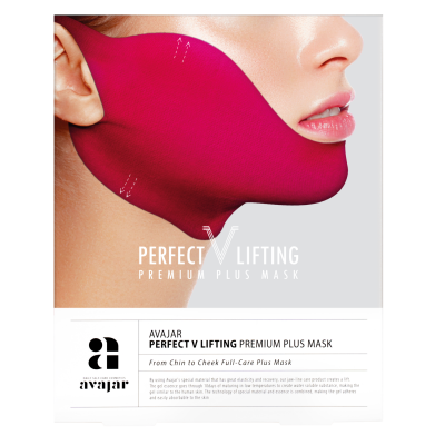 """Маска лифтинговая """"Плюс"""" розовая AVAJAR perfect V lifting premium plus mask 5шт: фото"""