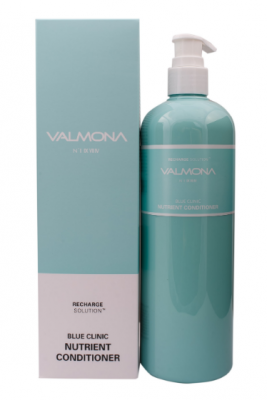 Кондиционер для волос УВЛАЖНЕНИЕ EVAS VALMONA Recharge Solution Blue Clinic Nutrient Conditioner 480 мл: фото