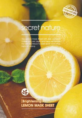 Тканевая маска для лица с лимоном Secret Nature Brightening Lemon Mask Sheet 25 мл: фото