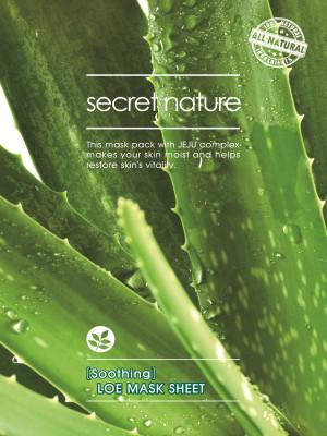 Тканевая маска для лица с алоэ Secret Nature Soothing Aloe Mask Sheet 25 мл: фото