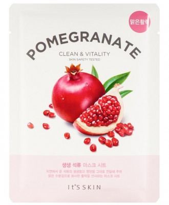 Тканевая маска укрепляющая с гранатом It'S SKIN The Fresh Pomegrante Mask Sheet 20 г: фото