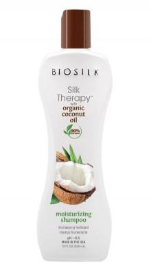 Шампунь с кокосовым маслом BioSilk Organic Coconut Oil Moisturizing Shampoo 355мл: фото